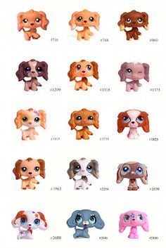 Littlest Pet Shop: Pets: Spaniel Lps Littlest Pet Shop, Little Pet Shop Toys, Little Pets, Lps Popular, Lps Dog, Custom Lps, Cockerspaniel, Diy Stuffed Animals, Minis
