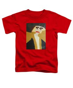 Patrick Francis Red Designer Toddler T-Shirt featuring the painting The Graduate 2014 by Patrick Francis