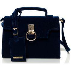 Cathias Edeline Velvet Navy Bag