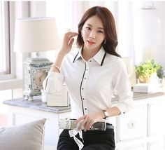 Online Shop New 2019 Women's Shirt Long Sleeve Women Blouses Ladies Office Shirts Tops White Shirt Female Blusas Camisa Mujer Shirt Blouses, Shirts, Cool Outfits, Victoria, Women, Image, Fashion, Outfits, Vestidos