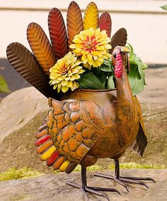 Look at this Harvest Turkey Garden Planter on #zulily today!