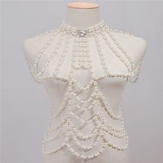 Women's Body Jewelry Body Chain / Shoulder Necklace Pearl White Irregular Ladies / Vintage / Fashion Imitation Pearl / Rhinestone / Alloy Costume Jewelry For Casual Summer