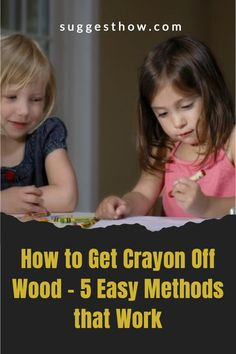 Know the right way of how to get crayon off wood without harming the wood finish. Wood can become a canvas for your kid's or guest's creativity. Remove crayon easily from your wood walls, wood furniture, or wood floors. #homehacks #cleaning #DIY #home Cleaning Diy, Household Cleaning Tips, Deep Cleaning Tips, Cleaning Walls, Bathroom Cleaning, Unfinished Wood Floors, Wood Laminate Flooring, Task To Do, Towel Wrap
