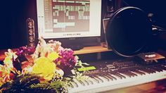 Flowers in a studio. I'm pretty spoiled. Turntable, Music Instruments, Studio, Pretty, Flowers, Record Player, Musical Instruments, Studios, Royal Icing Flowers