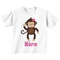 DIY Monkey Girl 1 Printable Iron On Transfer by CupcakeExpress