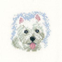 Westie Puppy - Heritage Crafts 'Little Friends' cross stitch kit