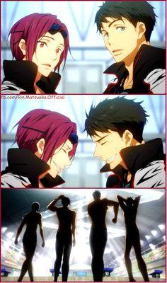 Free! ES ~~ The body language of Team Samezuka is TREMENDOUS! :: Aiichiro, Rin, Sosuke, and Momotaro - OP