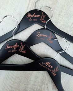 ⭐⭐⭐⭐⭐ 'These hangers are great. It gave such a beautiful finishing touch to dress shopping with my bridesmaids. They were very touched and surprised!' • • • • • #bridesmaidhangers #personalizedhangers #bridesmaidgift #bridalshowergift #bridalpartygifts #bridesmaids #bridalshower #bridalparty #giftideas #bridesmaidideas #bridesmaidgiftideas #bridesmaids #bridesmaidduty #personalizedgift #customhanger #bridesquad #weddinggifts #bridalpartysquad #bridesmaidinspiration #bridesmaidhanger Bridesmaid Hangers, Bridesmaid Duties, Wedding Hangers, Bridesmaid Gifts, Bridesmaids, Personalized Hangers, Personalized Wedding, Wedding Gifts, Wedding Day