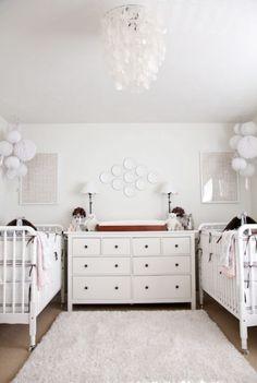 Biri Kız Biri Erkek İkiz Bebekler İçin Bebek Odaları