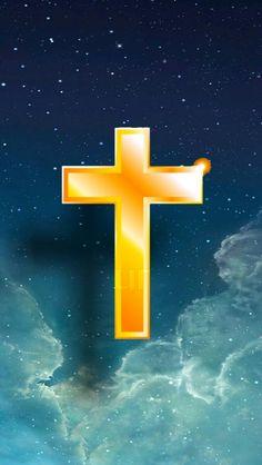 The Lord Jesus cross in heaven iPhone wallpaper