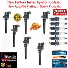 2004 2010 Cadillac CTS 3.6L ignition coil 6x+6x iridiumXP