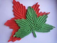 Video:Кленовый лист Часть 1 the maple leaf crochet part 1 - ETVPlayvideos Tunisian Crochet Stitches, Freeform Crochet, Crochet Stitches Patterns, Thread Crochet, Knit Or Crochet, Irish Crochet, Crochet Motif, Crochet Crafts, Crochet Doilies
