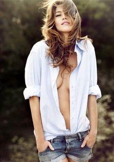 model white dress shirt sexy - Google Search