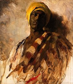 """Study for the Guard of the Harem"" by Frank Duveneck, 1879, De Young Museum, San Francisco"