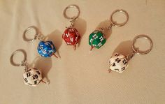D20 Keyrings by TheWhimsicalMammoth on Etsy