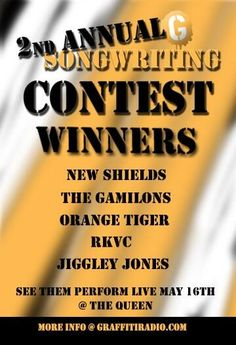 Announced: The winners of this years 2nd Annual Graffiti Radio Songwriting Contest.  | graffitiradio.com