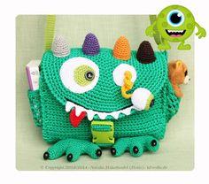 Kindertasche häkeln // Monstertasche häkeln