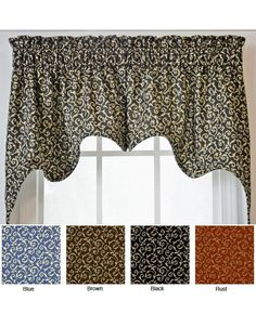 Spice up your window treatments with this set of two patterned valances and swags. Made from fully lined and corded cotton fabric, the valances feature a gentle, curving design and a delicate floral print that complements a traditional decor scheme.