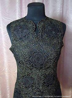 crochet top - three motifs, many possibilities