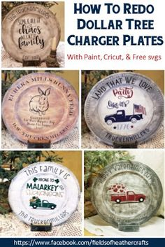 Painting & Decorating Dollar Tree Chargers Painting & Decorating Dollar Tree Chargers,Dollar Tree Charger Plates Fields Of Heather: Painting & Decorating Dollar Tree Chargers furniture gifts home decor tree crafts projects Dollar Tree Plates, Dollar Tree Cricut, Dollar Tree Decor, Dollar Tree Crafts, Dollar Tree Christmas, Christmas Crafts, Dollar Tree Fall, Christmas Plates, Christmas Holiday