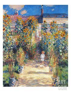 Monet: Garden/Vetheuil Print by Claude Monet at Art.com