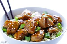 Sesame Chicken with Quinoa... made this tonight, delicious!