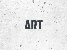 ART - Clever Negative Space Logo