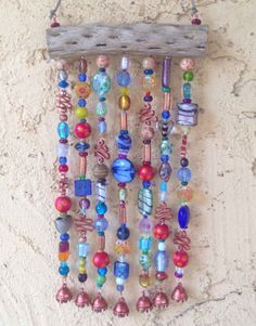 Glass Beaded Wind Chime on Cholla Wood with Bells by LTreatDesigns, $35.00