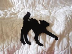 Halloween Cat Silhouette (Size big) - Gatto di Halloween (grande) by DropsofBrightness on Etsy
