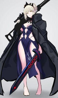 Cool Anime Girl, Awesome Anime, Anime Art Girl, Manga Girl, Anime Girls, Vestidos Anime, Majin, Fan Art Anime, Arturia Pendragon