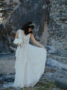 Lace-topped Truvelle wedding dress