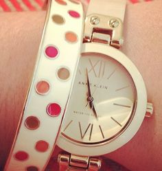 Anne Klein watch bangle stack Oh I got one of this!