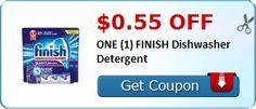 $0.55 off ONE (1) FINISH Dishwasher Detergent