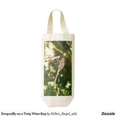 Dragonfly on a Twig Wine Bag