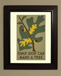 Nur Gott kann einen Baum WPA-Poster  3 von VintageUnitedStates