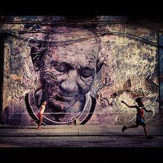 JR wheatpastes massive portraits on the walls of Havana #3