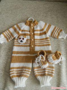 Baby Knitting Patterns, Baby Boy Knitting, Knitting For Kids, Crochet For Kids, Baby Patterns, Knit Crochet, Knitting Dolls Clothes, Crochet Doll Clothes, Knit Baby Dress