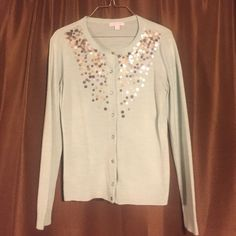 New York & Co. Embellished Cardigan Size small embellished cardigan from New York & Co. Has one missing rhinestone on the 3rd button and some slight pilling on the back of the right arm. New York & Company Sweaters Cardigans