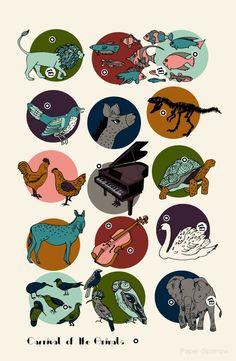 Carnival of the Animals - Saint-Saens Art Print by andrealauren