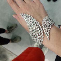 「 Messika Swan #messika #diamonds #baselworld2015 #bracelet 」