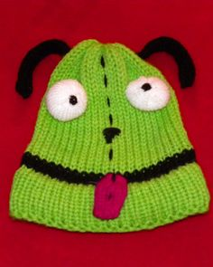 Invader Zim loom knit hat. This is Grrr, yep that's his name. Just really a cute hat by Kalicokat
