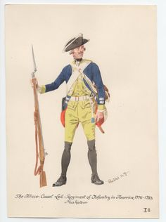 Hesse-Cassel Leib-Regiment of Infantry, Musketeer, in America 1776-1783 by H.Knotel
