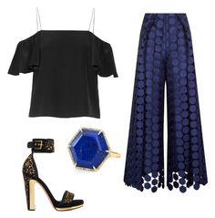 """""""Untitled #5"""" by paulacpgoncalves on Polyvore featuring Fendi, Solace, Alexander McQueen and Anne Sisteron"""