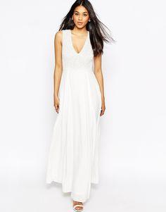 Image 1 ofASOS Embellished V Neck Maxi Dress