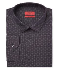 Between the stylish extra slim fit and the intriguing star pattern, this Alfani Red dress shirt will make a welcome addition to your day-to-night wardrobe. | Cotton/polyester | Machine washable | Impo