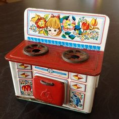 Vintage Tin Dolls House Furniture Stove - Made In Japan 1970s