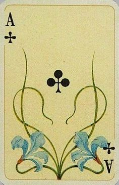 Fleur de lis playing card.