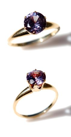Color Changing Alexandrite Ring- my boyfriends birthstone... Engagement ring??? Yassssss!!!!