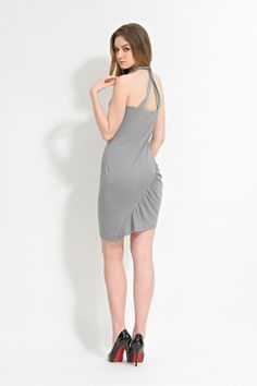 Dove Gray Halterneck DressSlip DressGift for by garylindesign, $85.00