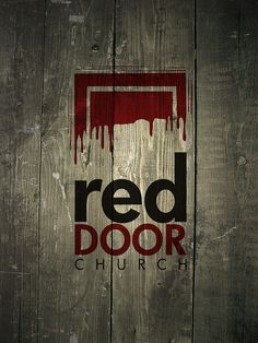 Red Door church logo by towerofbauer, #logo #design #inspiration #church #identity #branding